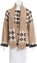 See by Chloe Intarsia Scarf Sweater w/ Tags
