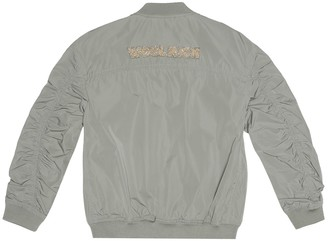 Woolrich Kids Embroidered bomber jacket