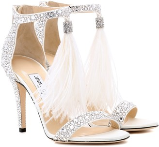 Jimmy Choo Viola 100 embellished sandals