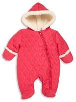 Absorba Baby's Faux Fur-Trim Quilted Snowsuit