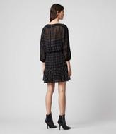 AllSaints Laci Grid Dress