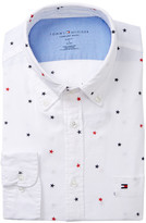 Tommy Hilfiger Star Print Slim Fit Dress Shirt