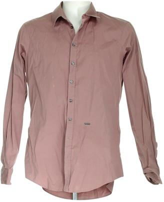 DSQUARED2 Burgundy Cotton Shirts