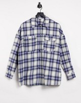 Thumbnail for your product : Pimkie checked shirt in purple