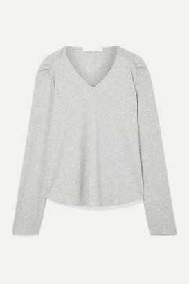 Skin Elena Melange Pima Cotton-jersey Pajama Top - Gray