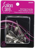 Salon Care Metal Single Prong Curl Clips