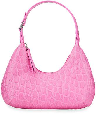 BY FAR Amber Baby Circular Croco Shoulder Bag