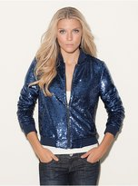 GUESS Emily Sequined Bomber Jacket