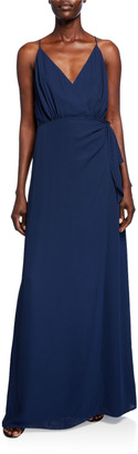 WAYF The Wynona Faux Wrap Gown