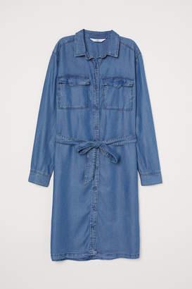 H&M Shirt Dress with Tie Belt - Blue
