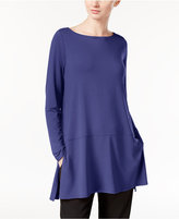Eileen Fisher Boat-Neck Tunic with seam detail, A Macy's Exclusive