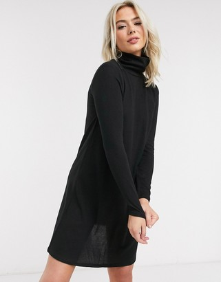 JDY Tonsy turtle neck dress in black