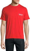 Balenciaga Short-Sleeve Campaign Logo T-Shirt, Red