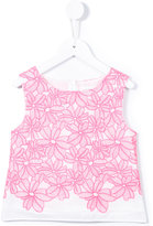 Charabia - embroidered top - kids - Cotton - 2 yrs