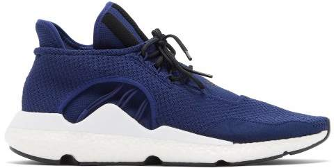 Y-3 Y 3 Saikou Low Top Knitted Trainers - Mens - Navy