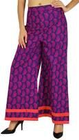 Amoghah Cotton Paisley Palazzo Womens Wear Elastic Waist Wide Leg Custom Pants