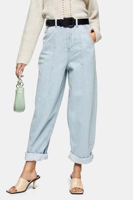 Topshop IDOL Bleach Seamed Balloon Jeans