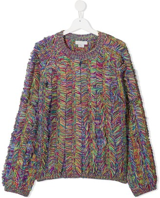 Stella Mccartney Kids TEEN Space Dyed knitted jumper