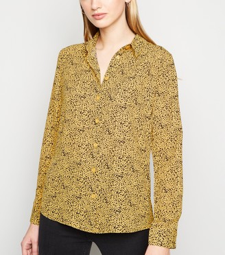 New Look Leopard Print Long Sleeve Shirt