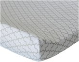Oliver B Changing Pad Cover - Trellis Dove Grey