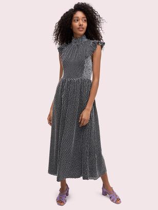 Kate Spade Smocked Clip Midi Dress