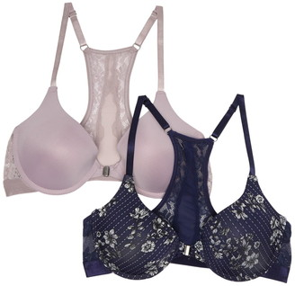 Jessica Simpson Floral Lace Racerback Underwire Bra (B-C Cups) - Pack of 2