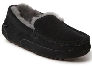 Dearfoams Fireside Melbourne Shearling Moccasin Slippers Men's Shoes