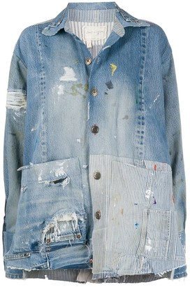 Greg Lauren boxy studio jacket