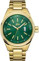 JBW Men's J6287I Rook Analog Green Dial Gold Plated Stainless Steel Watch