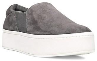 Vince Warren Slip-On Platform Suede Sneakers