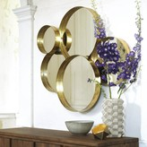 Graham and Green Gold Lamour Round Mirror