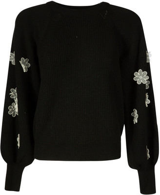 RED Valentino Floral Sleeve Jumper