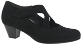 Gabor Breda Extra Wide Fit Cross Strap Court Shoes, Black