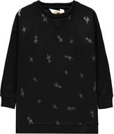 Little Eleven Paris Roll Lurex Lightning Knit Dress Noir