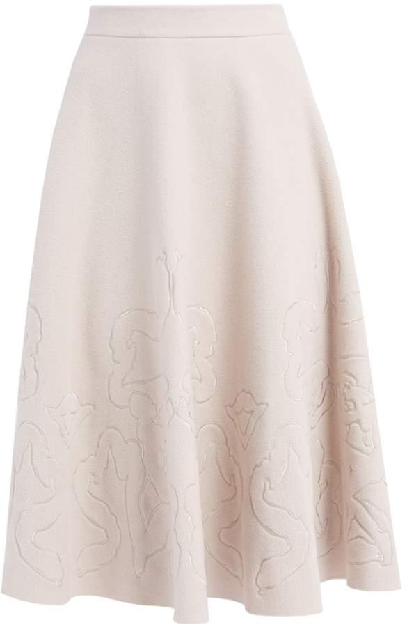 aa0b3d4356 Cream Wool Skirt - ShopStyle