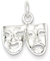 West Coast Jewelry Sterling Silver Comedy/Tragedy Charm