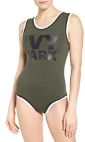 Ivy Park Women's Stripe Trim Logo Bodysuit