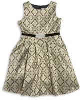 Rare Editions Girl's Self-Tie Waist Fit-&-Flare Dress