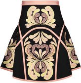 Herve Leger Leilani jacquard-knit mini skirt
