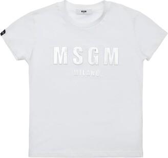 MSGM Metallic Print Cotton Jersey T-Shirt