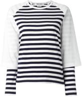 Comme des Garcons striped sweatshirt - women - Cotton - M