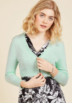 ModCloth The Dream of the Crop Cardigan in Buttermint in 3X