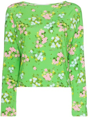BERNADETTE Monica Small Roses print top