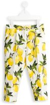 Dolce & Gabbana brocade lemon print trousers