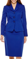 Le Suit Long-Sleeve Jacket and Skirt Suit Set