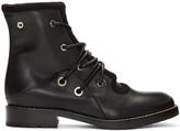 Proenza Schouler Black Lace-Up Boots