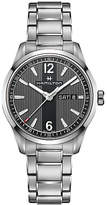 Hamilton H43311135 Men's Broadway Day Date Bracelet Strap Watch, Silver/Black