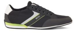 HUGO BOSS Low-top trainers with mesh and rubberised faux leather