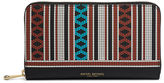 Henri Bendel West 57th Bead Print Zip Around Continental Wallet