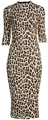 Alice + Olivia Delora Leopard Bodycon Dress